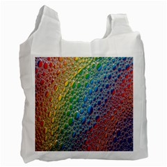Bubbles Rainbow Colourful Colors Recycle Bag (Two Side)
