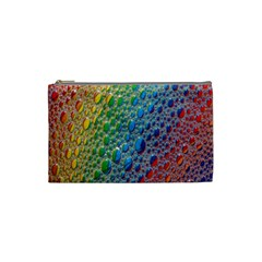 Bubbles Rainbow Colourful Colors Cosmetic Bag (small)