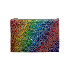 Bubbles Rainbow Colourful Colors Cosmetic Bag (Medium)