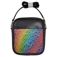 Bubbles Rainbow Colourful Colors Girls Sling Bags
