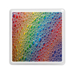 Bubbles Rainbow Colourful Colors Memory Card Reader (square)