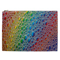 Bubbles Rainbow Colourful Colors Cosmetic Bag (xxl)