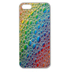 Bubbles Rainbow Colourful Colors Apple Seamless Iphone 5 Case (clear)