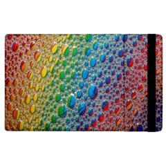 Bubbles Rainbow Colourful Colors Apple Ipad 2 Flip Case