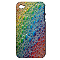 Bubbles Rainbow Colourful Colors Apple Iphone 4/4s Hardshell Case (pc+silicone)