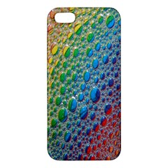 Bubbles Rainbow Colourful Colors Apple Iphone 5 Premium Hardshell Case