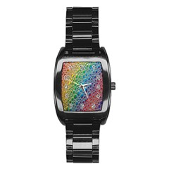 Bubbles Rainbow Colourful Colors Stainless Steel Barrel Watch
