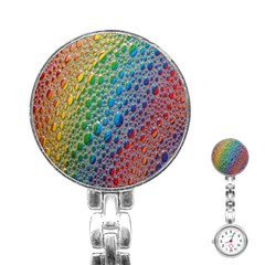 Bubbles Rainbow Colourful Colors Stainless Steel Nurses Watch