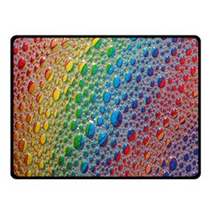 Bubbles Rainbow Colourful Colors Double Sided Fleece Blanket (small)