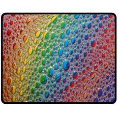 Bubbles Rainbow Colourful Colors Double Sided Fleece Blanket (medium)