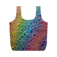 Bubbles Rainbow Colourful Colors Full Print Recycle Bags (m)