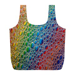 Bubbles Rainbow Colourful Colors Full Print Recycle Bags (L)