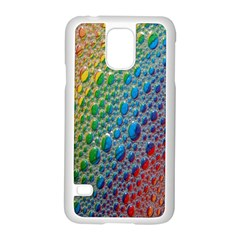 Bubbles Rainbow Colourful Colors Samsung Galaxy S5 Case (white)