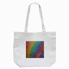 Bubbles Rainbow Colourful Colors Tote Bag (White)