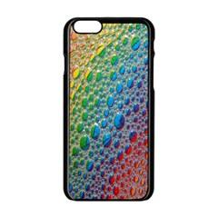 Bubbles Rainbow Colourful Colors Apple Iphone 6/6s Black Enamel Case