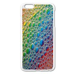 Bubbles Rainbow Colourful Colors Apple Iphone 6 Plus/6s Plus Enamel White Case