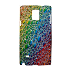 Bubbles Rainbow Colourful Colors Samsung Galaxy Note 4 Hardshell Case