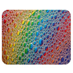 Bubbles Rainbow Colourful Colors Double Sided Flano Blanket (medium)