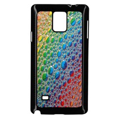 Bubbles Rainbow Colourful Colors Samsung Galaxy Note 4 Case (black)