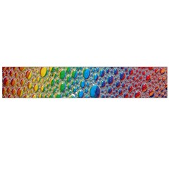 Bubbles Rainbow Colourful Colors Flano Scarf (large)