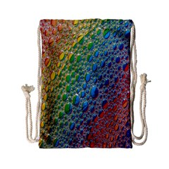 Bubbles Rainbow Colourful Colors Drawstring Bag (small)
