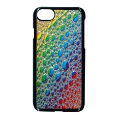 Bubbles Rainbow Colourful Colors Apple Iphone 7 Seamless Case (black)