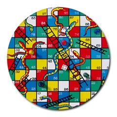 Snakes And Ladders Round Mousepads