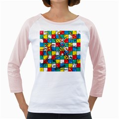 Snakes And Ladders Girly Raglans