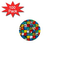 Snakes And Ladders 1  Mini Buttons (100 Pack)