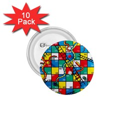 Snakes And Ladders 1 75  Buttons (10 Pack)