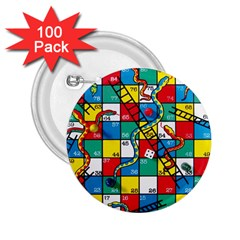Snakes And Ladders 2 25  Buttons (100 Pack)