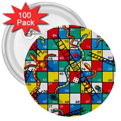 Snakes And Ladders 3  Buttons (100 Pack)