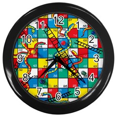 Snakes And Ladders Wall Clocks (black)
