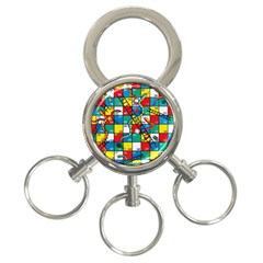 Snakes And Ladders 3 Ring Key Chains