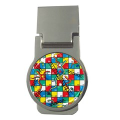 Snakes And Ladders Money Clips (round)