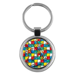 Snakes And Ladders Key Chains (round)