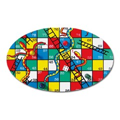 Snakes And Ladders Oval Magnet