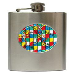 Snakes And Ladders Hip Flask (6 Oz)