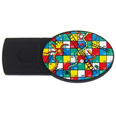 Snakes And Ladders Usb Flash Drive Oval (2 Gb)