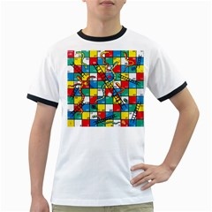 Snakes And Ladders Ringer T Shirts