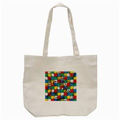 Snakes And Ladders Tote Bag (cream)