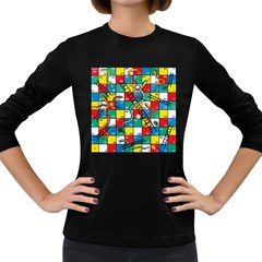 Snakes And Ladders Women s Long Sleeve Dark T Shirts