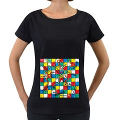 Snakes And Ladders Women s Loose Fit T Shirt (black)