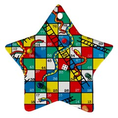 Snakes And Ladders Star Ornament (two Sides)