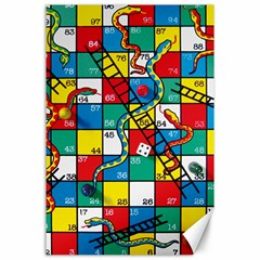 Snakes And Ladders Canvas 24  X 36