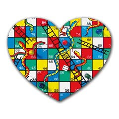 Snakes And Ladders Heart Mousepads