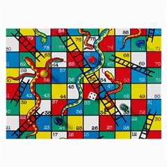 Snakes And Ladders Large Glasses Cloth