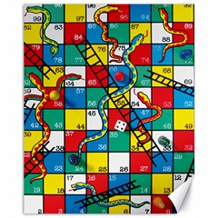 Snakes And Ladders Canvas 11  X 14