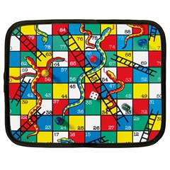 Snakes And Ladders Netbook Case (large)