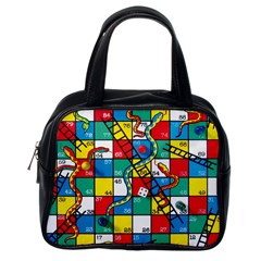 Snakes And Ladders Classic Handbags (one Side)